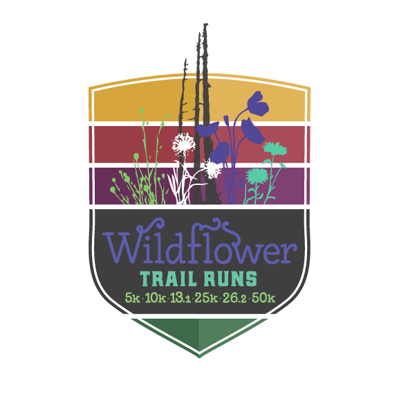 Finisher medal for the Wildflower 50k